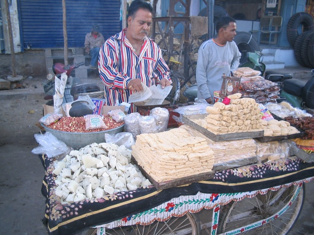Street food sellers in India